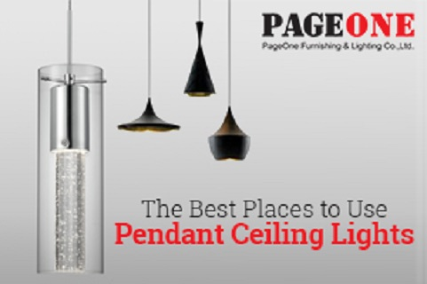 The Best Places to Use Pendant Ceiling Lights